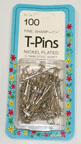 Longarm Quilting Supplies - T-Pins - Box of 100 1-1/4""