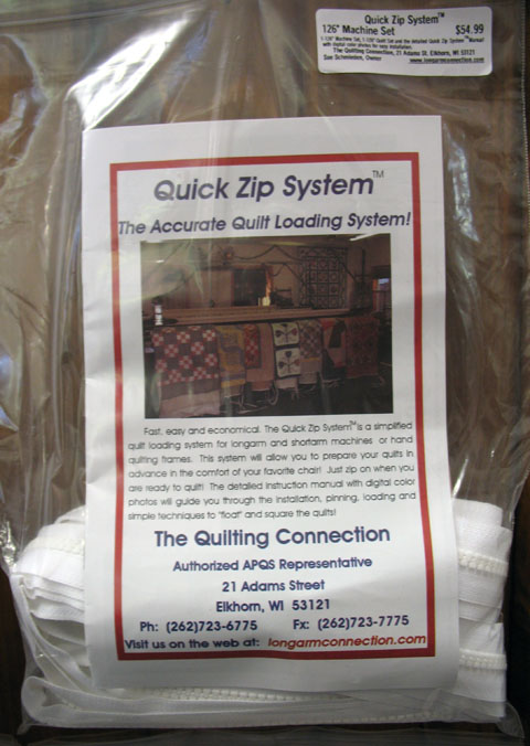 Quick Zip Quilt Loading System