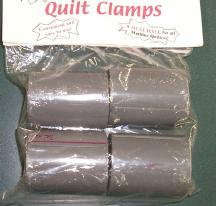 Packaging for temporary quilt clamps.