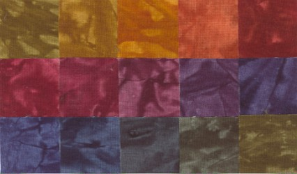 Dancing Leaves - Fat Quarters - 15 Pack - Fabric - Hand Dyes