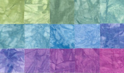 Trinidad Lights - Fat Quarters - 15 Pack - Fabric - Hand Dyes