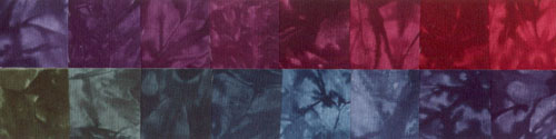 Midnight Romance - Fat Quarters - 16 Pack - Fabric - Hand Dyes