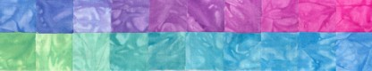 Secret Treasures - Fat Quarters - 20 Pack - Brights - Fabric - Hand Dyes