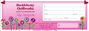 Longarm Quilting Gift Certificate - Sweetheart