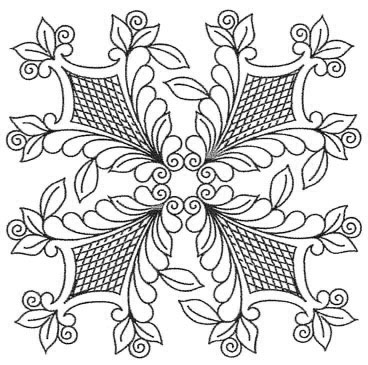 Shields with Curved Crosshatching - Preprinted Quilting Designs