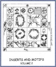 Inserts & Motifs Volume 2 - Diana Phillips - Quilt Book