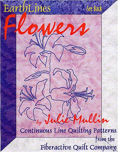 earthlines flowers continuous line quilting patterns by julie mullin