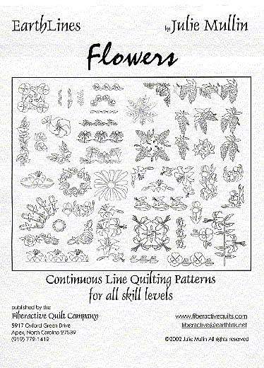 earthlines flowers continuous line quilting patterns by julie mullin samples