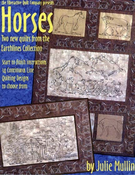 earthlines horses continuous line quilting patterns by julie mullin