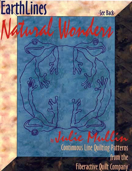 earthlines natural wonders continuous line quilting patterns by julie mullin