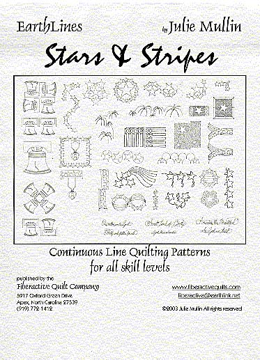 earthlines Stars and Stripes continuous line quilting patterns by julie mullin back
