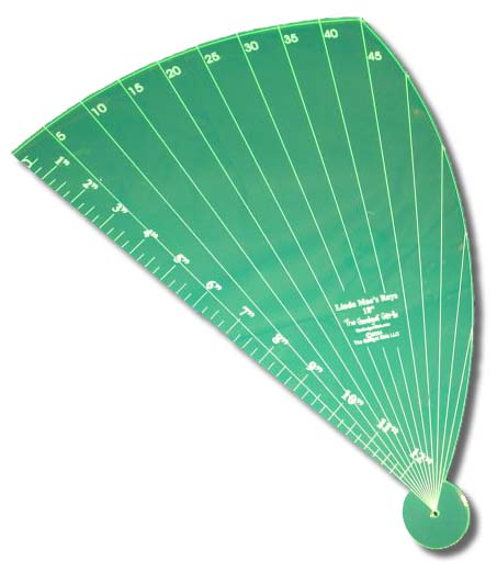 Linda Mae's Rays 18 inch Longarm Shortarm Quilting Rulers Guides and Templates