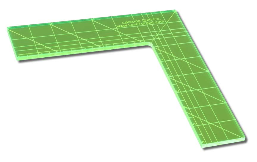 Right Angle Quilting Ruler (90 degree ruler)