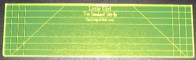 Gadget Girl example of Little Girl Ruler Longarm Quilting Tool