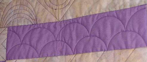 Gadget Girls Shells and Swirls Longarm Quilting Tool Example