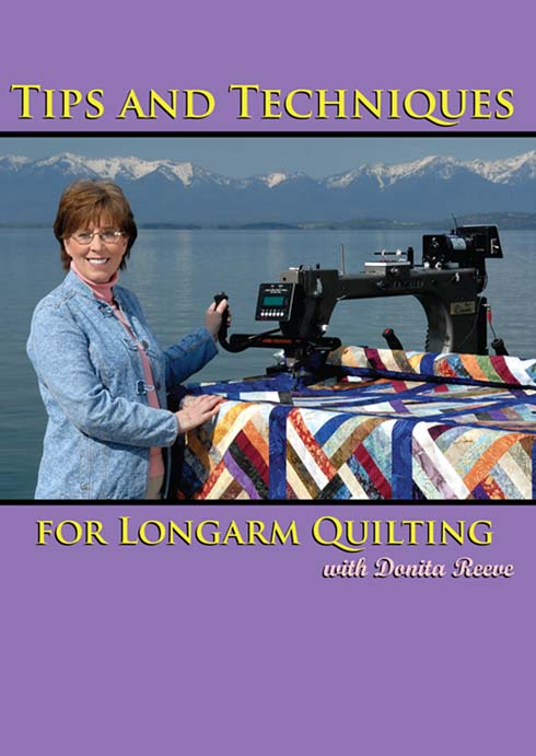Tips and Techniques for Longarm Quilting DVD Video Cover