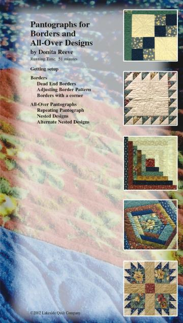 Pantographs for Borders and All-over designs long arm quilting video by Donita Reeve